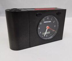 Sharper Image Travel Alarm Clock Black 5.75x3.5 DC Power Light FREE SHIPPING