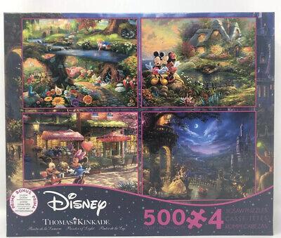 Ceaco Thomas Kinkade 4-In-1 Disney 500 Piece Jigsaw Puzzle