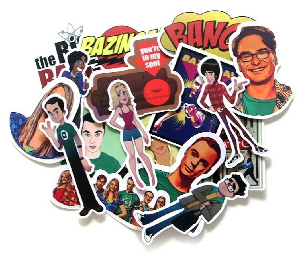 Big Bang Theory Themed Set of 17 Assorted Stickers Decal