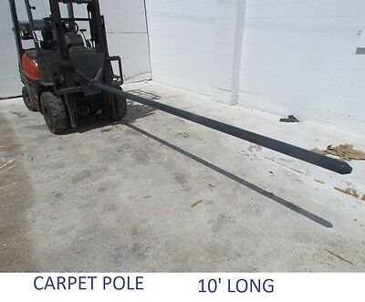 10 Carpet Pole 2.5 Carriage Mount 1500 Lb Capacity Forklift Fork Mount