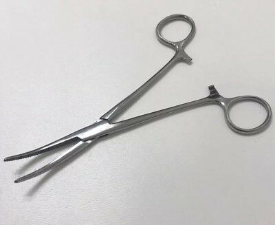 Scanlan Stainless Steel Curved Serrated Forceps Surgical Medical Dental Surgeon