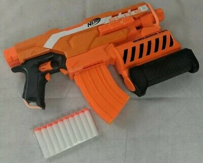 NERF N-Strike Elite Demolisher 2in1 Motorized Blaster w Ammo TESTED WORKING