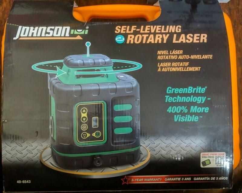 Johnson Self-Leveling Rotary Laser w/ GreenBrite Technology 40-6543  - NEW!!!