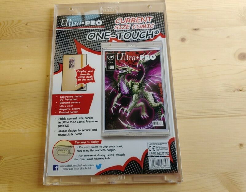 Ultra Pro Comic Book One Touch Magnetic Holder w/ UV - Wall Mount - Current Size