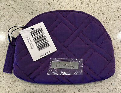 Vera Bradley Purple Mini Cosmetic Bag New Elderberry