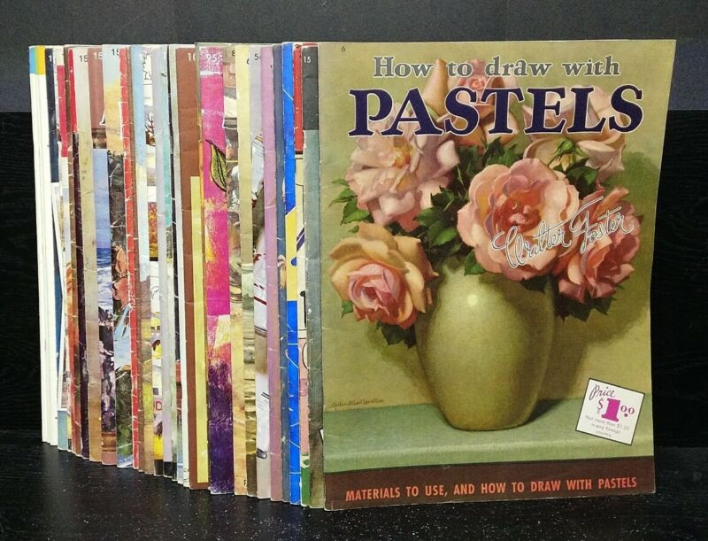 Lot of 38 Walter T Foster Art Instruction How To Paint