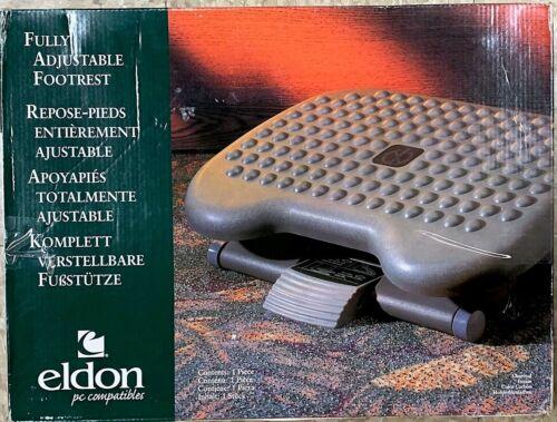 "Rubbermaid Eldon Height-Adjustable Tilting Footrest, 3"" Adjustment 4653 Charcoal"