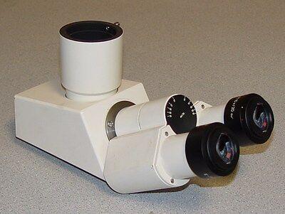 Zeiss Tri-nocular Microscope Head With Two E-pi 10x20 Eyepiece
