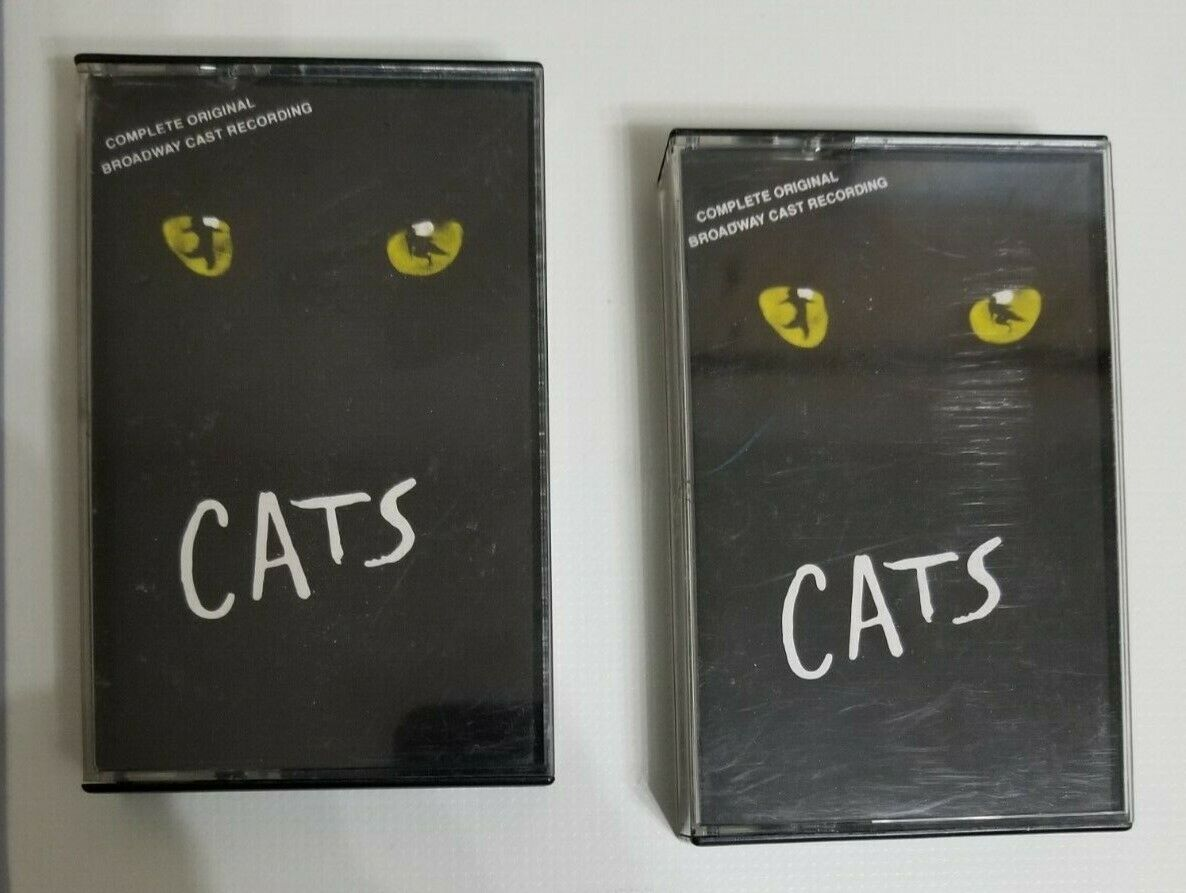 Cats Complete Original Broadway Cast Recording Two Cassettes Used - $1.49