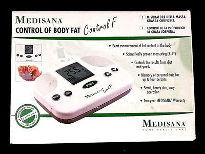 Medisana Control F Fat Analyzer Measure Fat Content Digital with Instructions