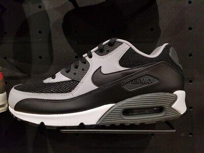 Men's Nike Air Max 90 Essential Running Shoes - Black/Black/Wolf