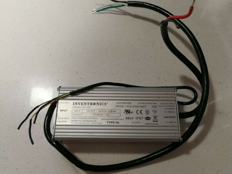 New LED DC Power Supply 75W Inventronics EUC-075S140DT Outdoor Driver DIMMING