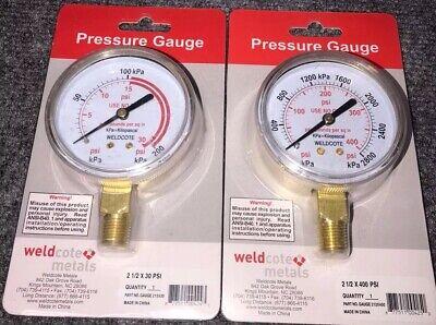 Welding Regulator 2-12 X 30 Psi 400 Psi Replacement Gauge Acetylene