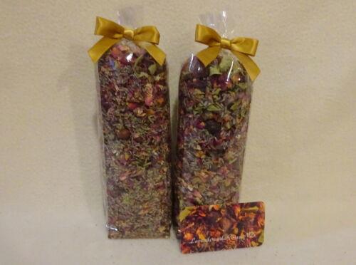 2pk Potpourri Daisy-Lavender-Rose Buds-Verbena-All Spice-48ozs NO FILLER-Rare