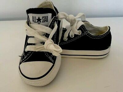 Converse All Star Toddler Size 6 Black Low Tennis Shoes