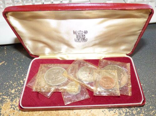Jamaica 1969 6 Coin Proof Set in Mint Plastic w/ Case, KM# PS4