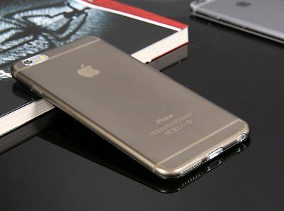 Ultra Thin Slim Transparent Black Back Case Cover Skin for Apple iPhone 6 Plus on Rummage