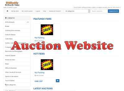 Online Auction Website Mobile Friendly Ebay Clone Website 2 Months Hosting