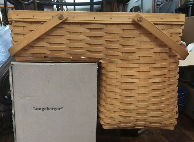 longaberger Step It Up Basket with Protector Nice!