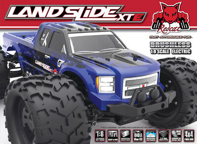 Redcat Landslide Xte 1 8 Brushless Electric Monster Truck 4Wd Rtr Blue