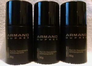 Lot of 3 Armand Dupree Roll on Deodorant/Antiperspirant for Men 90g