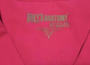 Grey's anatomy scrub large and medium size tops.