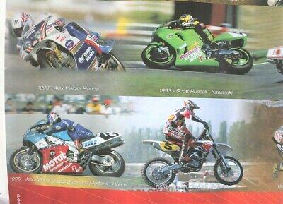 Affiche huile motul 1977-2002 pilotes champions moto gp cross trial 80x60 cm