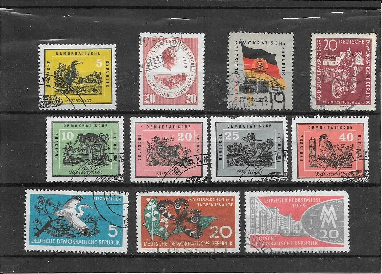 Germany DDR 1959 - Humboldt, Naturschutz, Vogel, Messe, DDR, Briefmarke - Used - $0.99