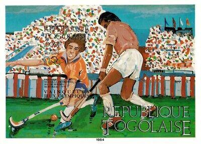 Togo 1984 SC# C500 - Olympics Field Hockey Sport - Imperf Souvenir Sheet - MNH