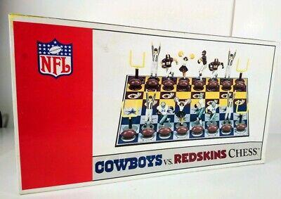 2001- 2002 NFL Cowboys VS Redskins Chess Game Original Box Big Leagues Promotion - Redskin Vs Cowboys