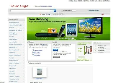 Auction Website For Sale - Free Install Hosting With Ssl