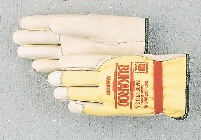 Medium Leather Glove - #8310 Medium THERMAL LINED Bukaroo Leather  work Gloves Buckaroo USA made