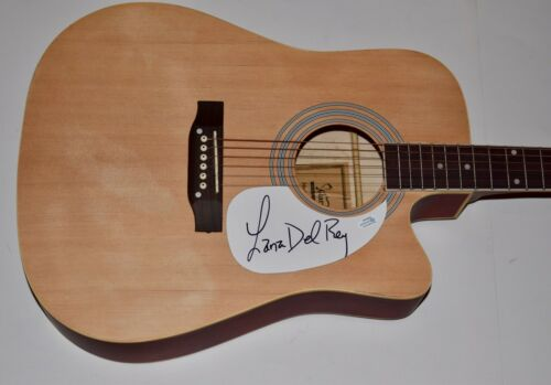 Lana Del Rey Signed Autographed Full Size Acoustic Guitar ACOA COA