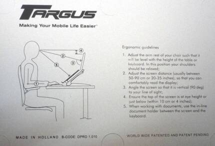 #### Targus Ergo D-Pro Notebook Laptop  Stand #### Quinns Rocks Wanneroo Area Preview