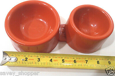 DOG BOWL NEW PET BOWL 2 PC.  DOG OR CAT BREAK AWAY DESIGN RED