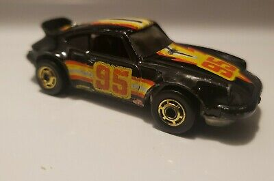 Hot Wheels Porsche P-911 Turbo - Black - Vintage1982 Hot Ones - Gold Hot Ones