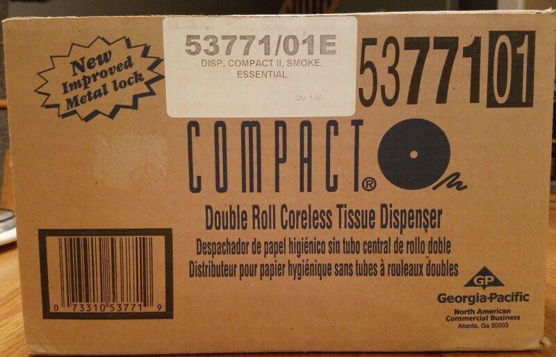 Georgia Pacific Compact Double Roll Coreless Toilet Paper Dispenser #5377101 NIB