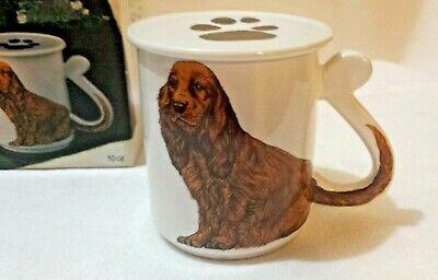 Stoneware Cocker Spaniel Man's Best Friend Dog Coffee Mug w/ Cover/Coaster NIB Cocker Spaniel Mug Dog