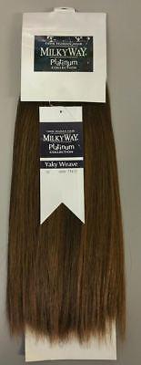 Milky Way 100% Human Hair for Weaving - MILKY WAY PLATINUM YAKY WEAVE(STRAIGHT) 100% Human Hair Weave