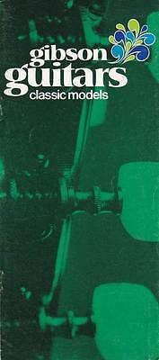 1970 Gibson Classical Guitar Catalog Brochure. Full Color. C-0, C-1, C-2, C-6...