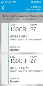 Taylor Swift Level 100 - 2 tickets in section 130CR