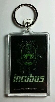 AS-IS INCUBUS GREEN BIO OUTLINE BABY HEAD BLACK GREEN KEY CHAIN KEYCHAIN