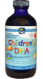 Nordic naturals childrens dha strawberry 8 fl oz 237 ml for Nordic naturals fish oil liquid