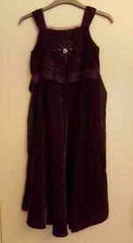 PURPLE DRESS with Petticoat - 10 YEARS/ 140cm Height