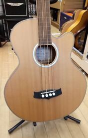 Preowned Tanglewood Electro-Acoustic Fretless Bass