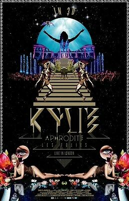 Kylie Minogue poster - Aphrodite Les Folies Live In London  11 x 17 KYLIE poster