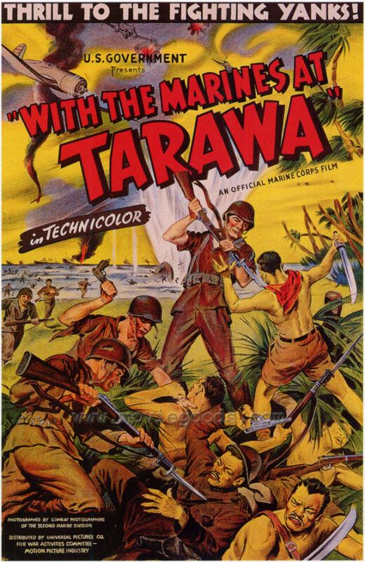 WITH THE MARINES AT TARAWA Movie POSTER 27x40 Alexander Bonnyman Jr. John Borich