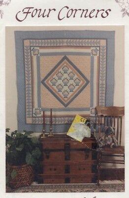 - Four Corners 'Basket Medallion' Pieced Quilt 60