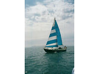 Westerly 25 yacht and trailer. Due to illness unused for 4 yrs. Project. Needs new mast.