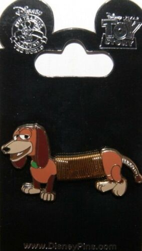 """Disney TOY STORY """"Slinky Dog"""" Moveable Body Spring Pin New on Card Rare Retired"""